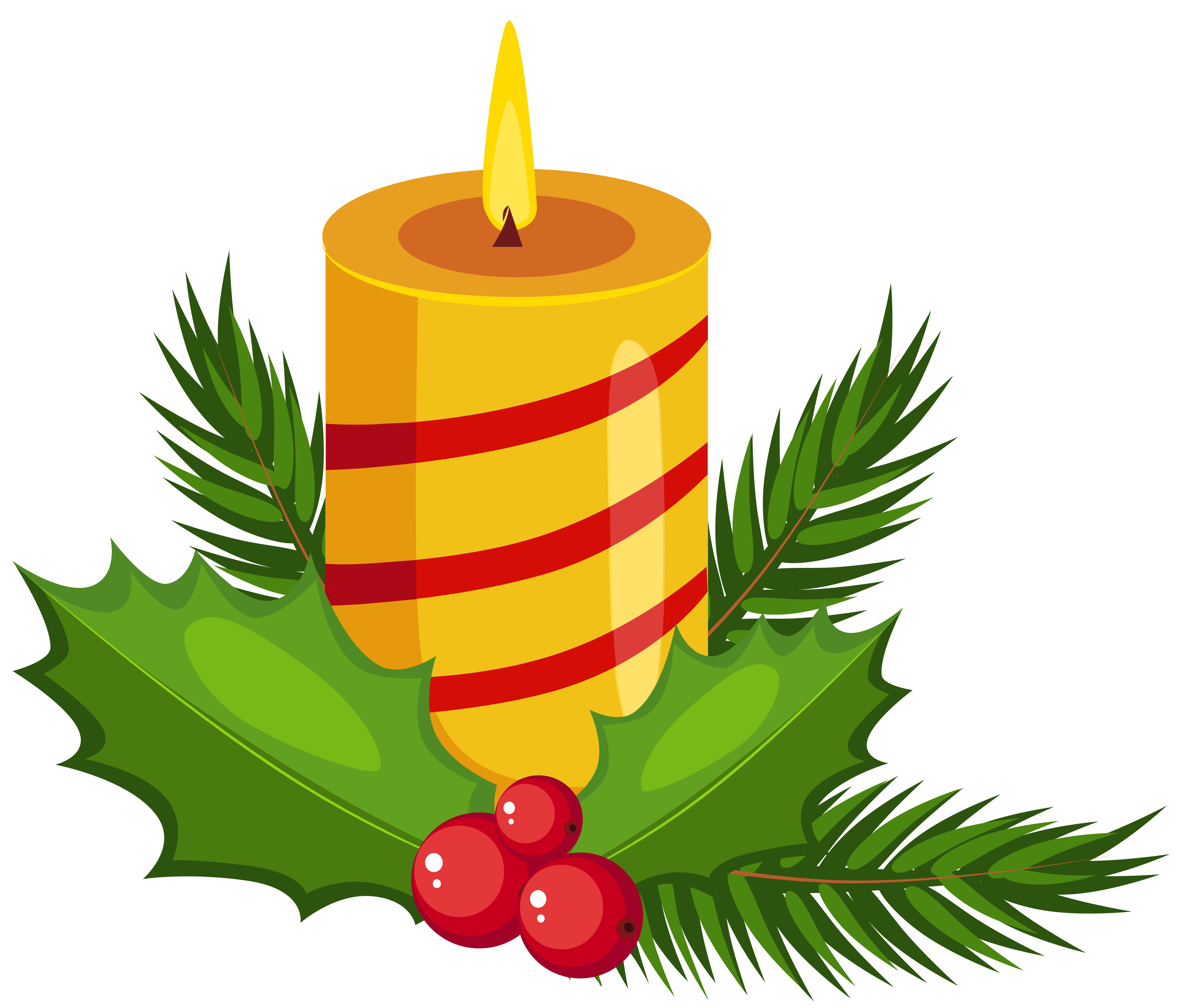 Christmas candles clipart best