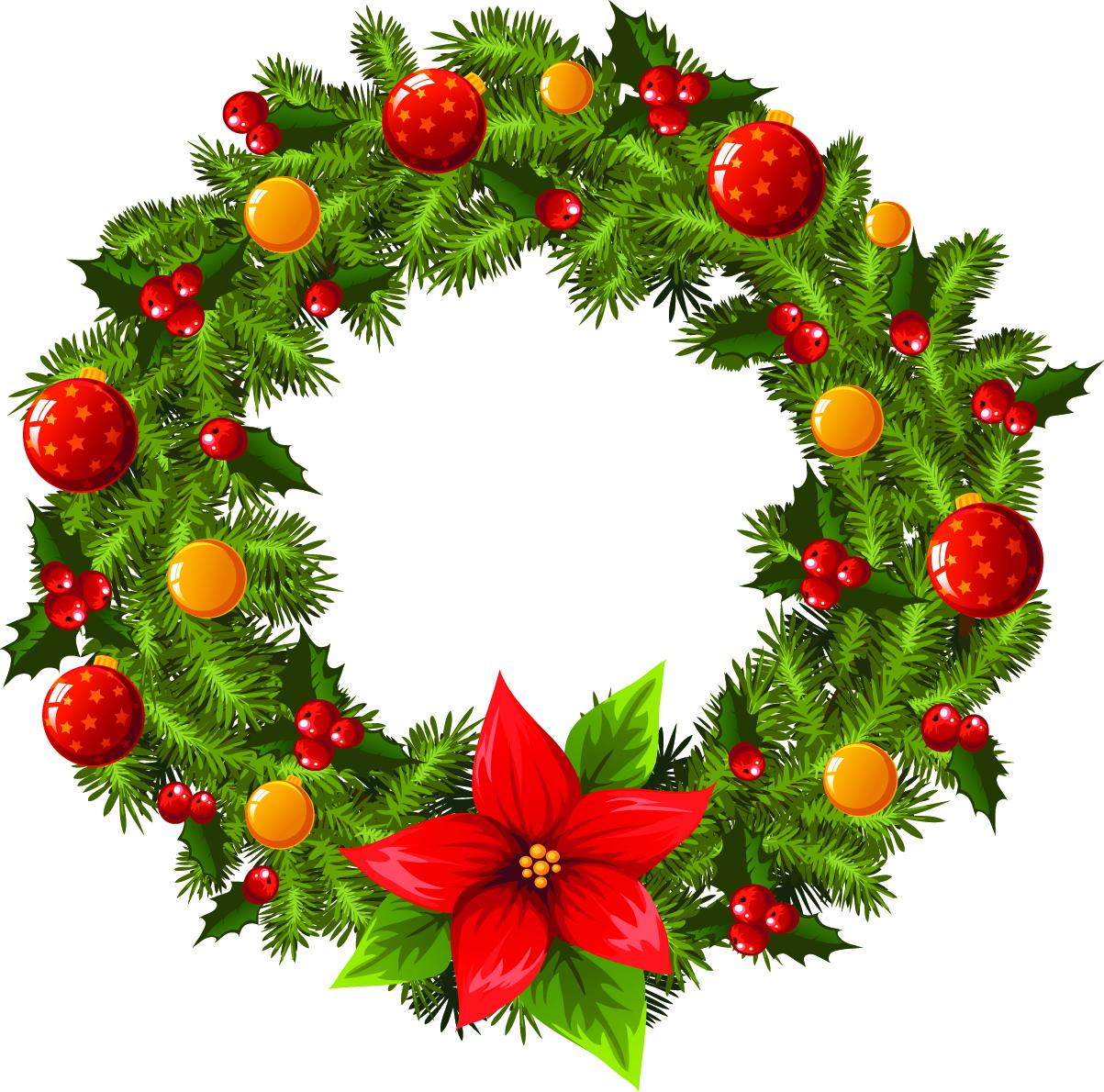 Holiday garland clip art clipart best