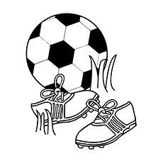 soccer ball colouring clipart best