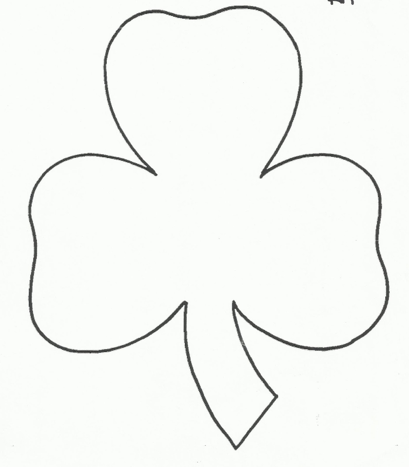 This is a photo of Exceptional Shamrock Template Free Printable