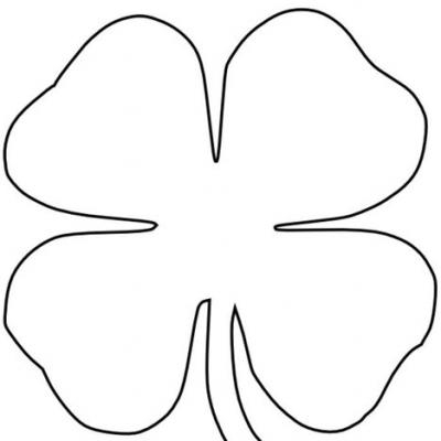 Nerdy image throughout four leaf clover printable