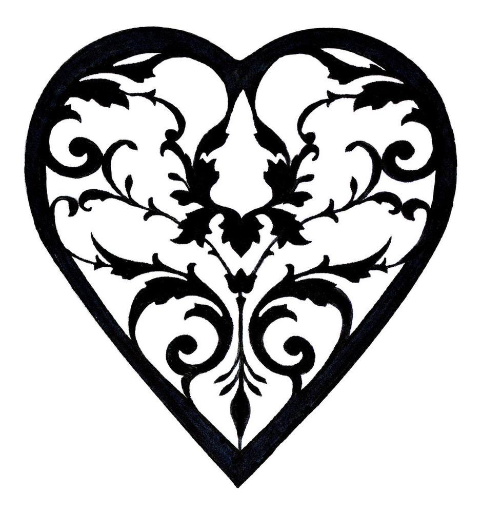 Filigree Heart Clip Art - ClipArt Best