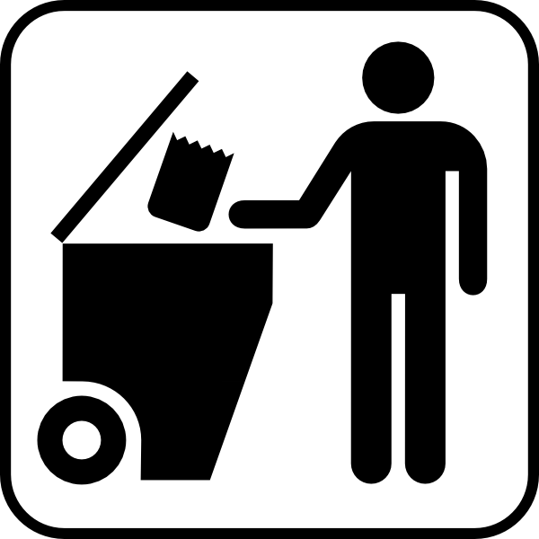 Trash Disposal clip art - vector clip art online, royalty free ...