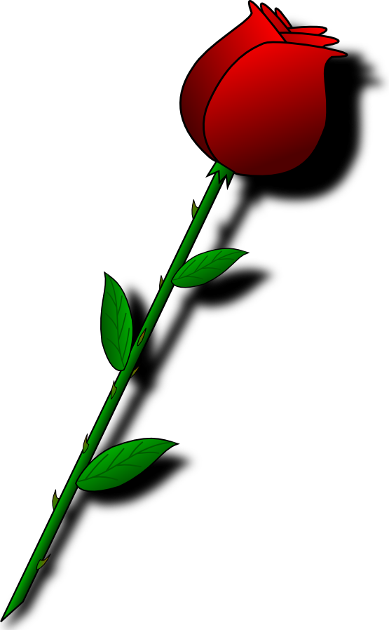 Clip Art: rose flower flora valentine SVG - ClipArt Best - ClipArt ...