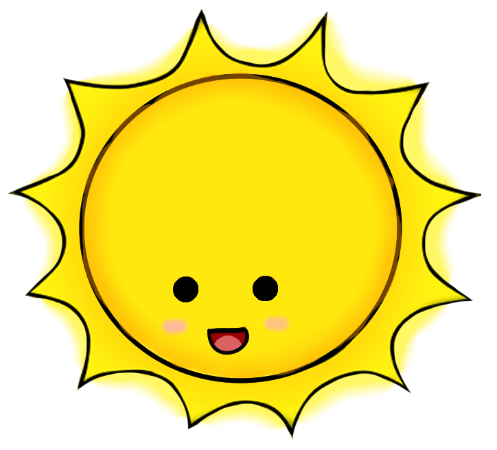 Kawaii Shining Sun - ClipArt Best - ClipArt Best