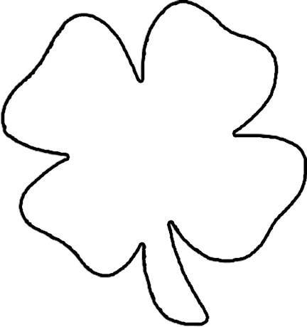 shamrock cut out template - four leaf clover drawing clipart best
