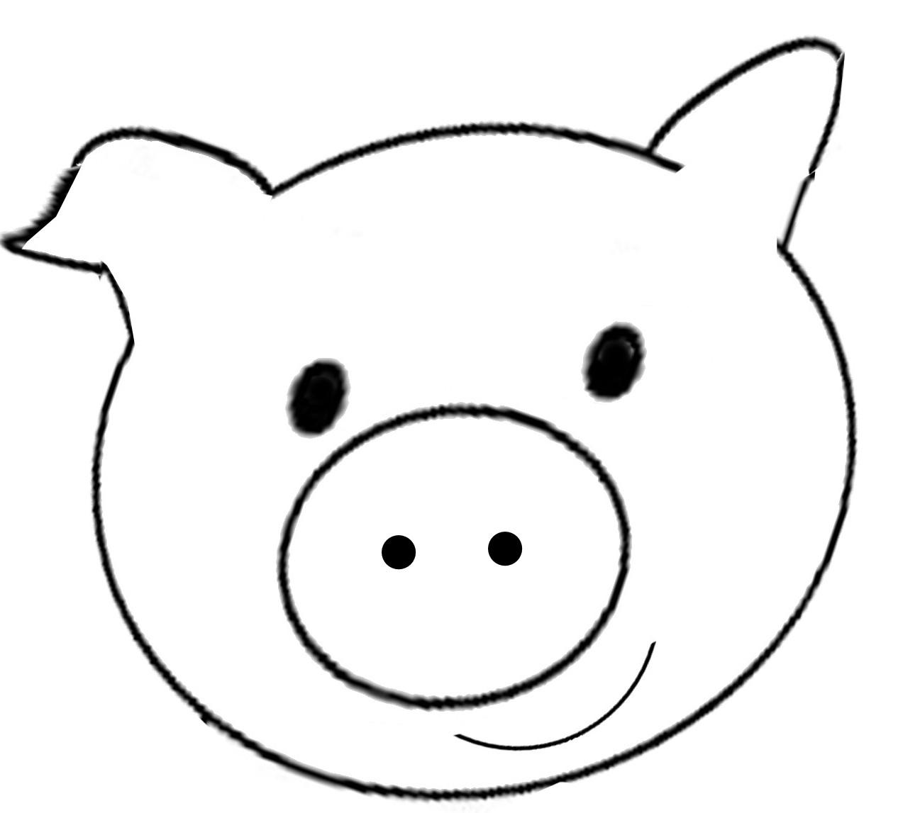 Pig Template Printable Key template for kids
