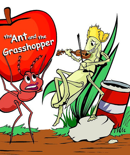 The Ant And The Grasshopper Pictures - ClipArt Best