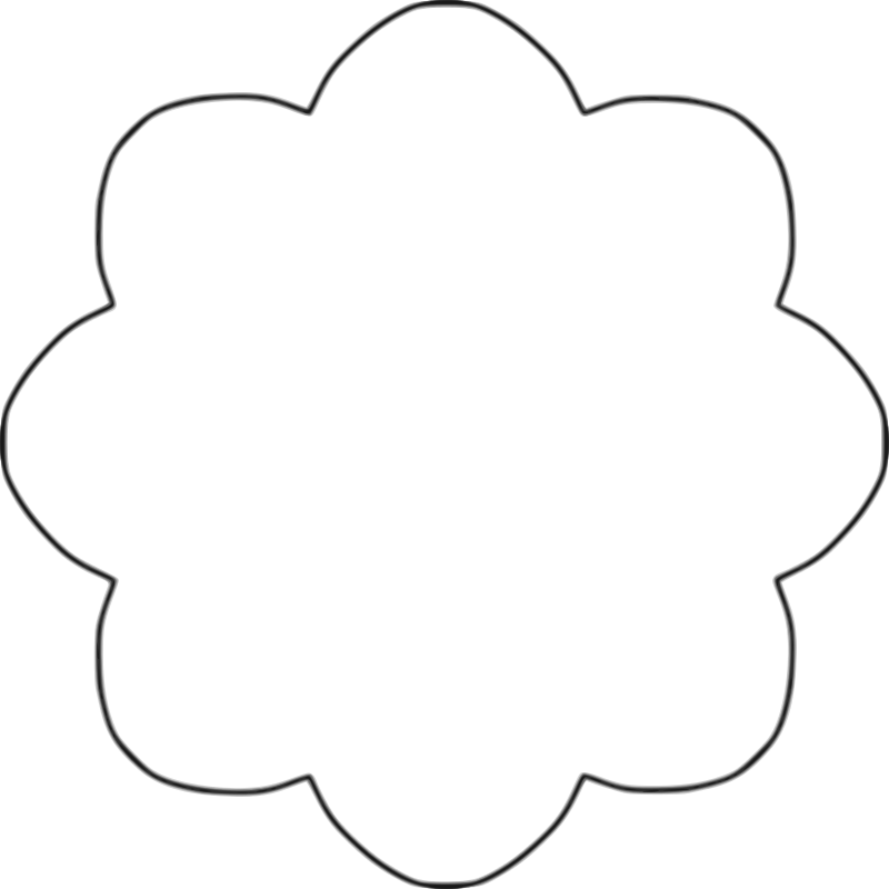 Flower Patterns To Cut Out Clipart Best