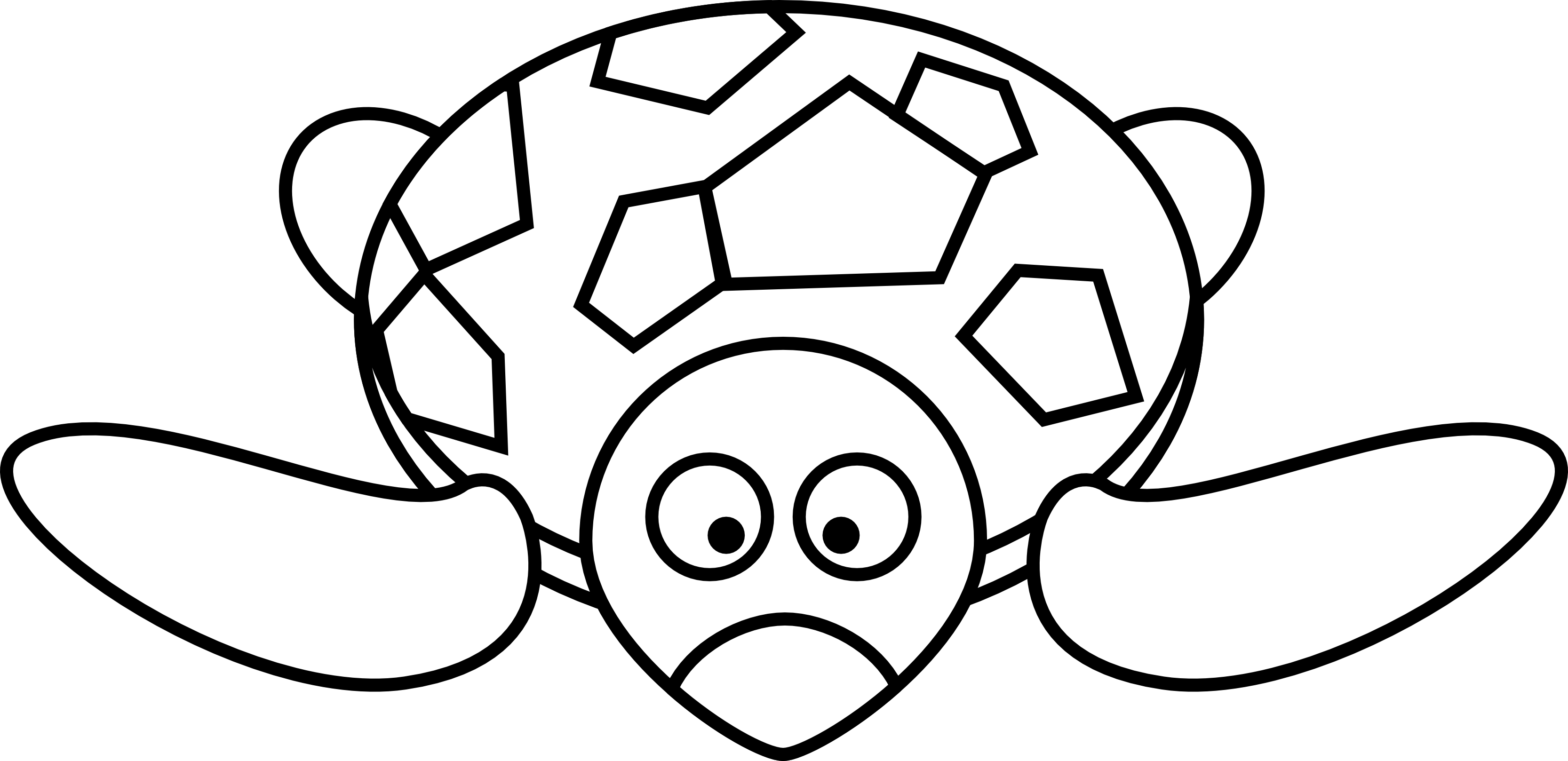 Line Drawings Of Cartoon Animals : Lemmling cartoon turtle black white line art clipart