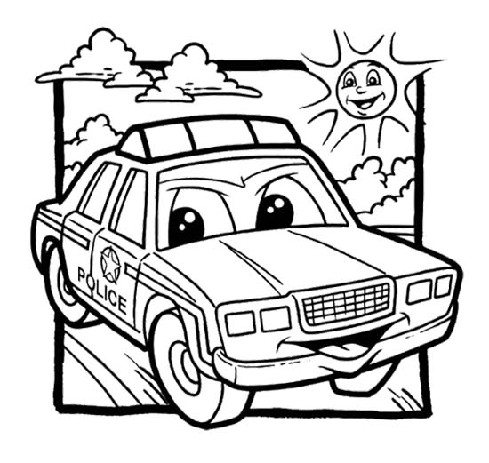 police pages coloring pages - photo#32