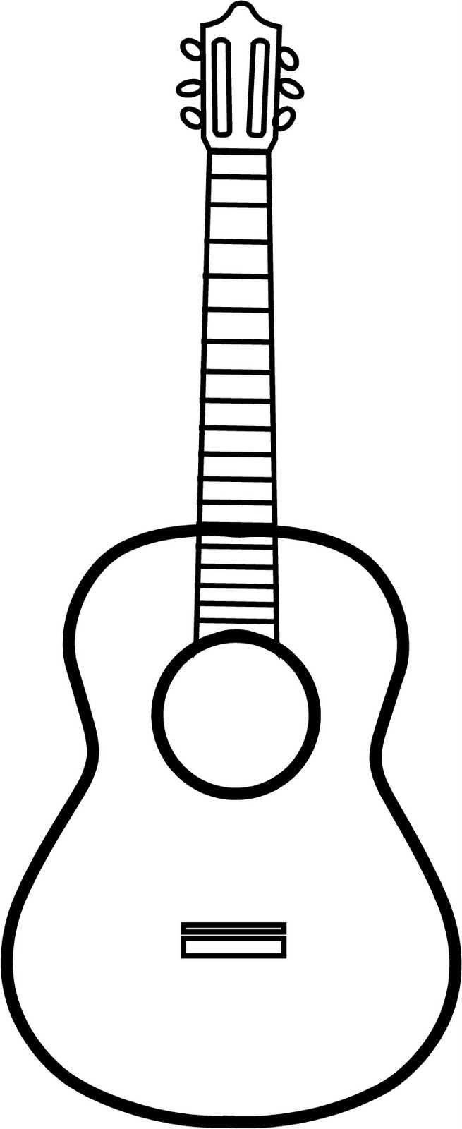 Guitar line drawing clipart best for Guitar cut out template