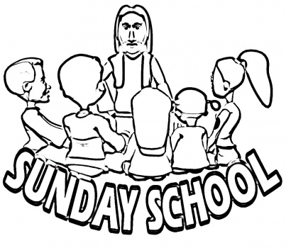 Kids Sunday School coloring page