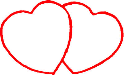 Outlines Of Hearts - ClipArt Best