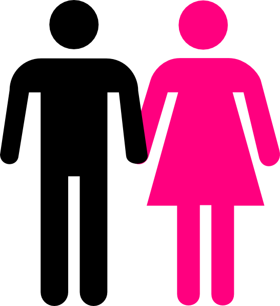 Man And Woman Bathroom Symbol - ClipArt Best
