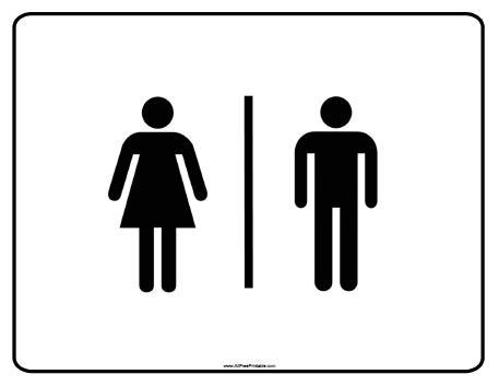 Restroom Signs Printable ClipArt Best