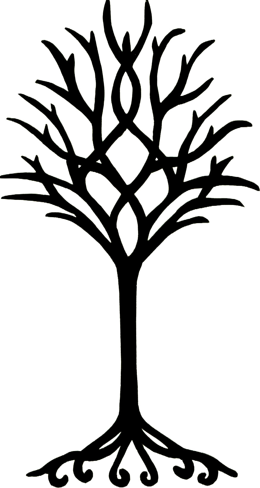 Tree Line Art Design : Line drawing of tree clipart best