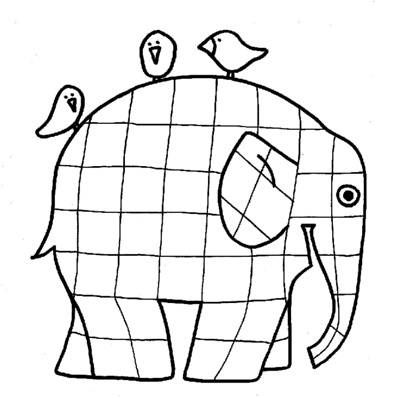 Elmer Elephant Coloring Page - ClipArt Best