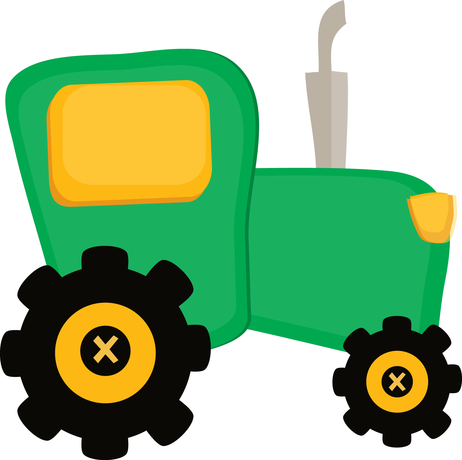 Simple Tractor Clip Art : Tractor clip art easy to draw clipart best