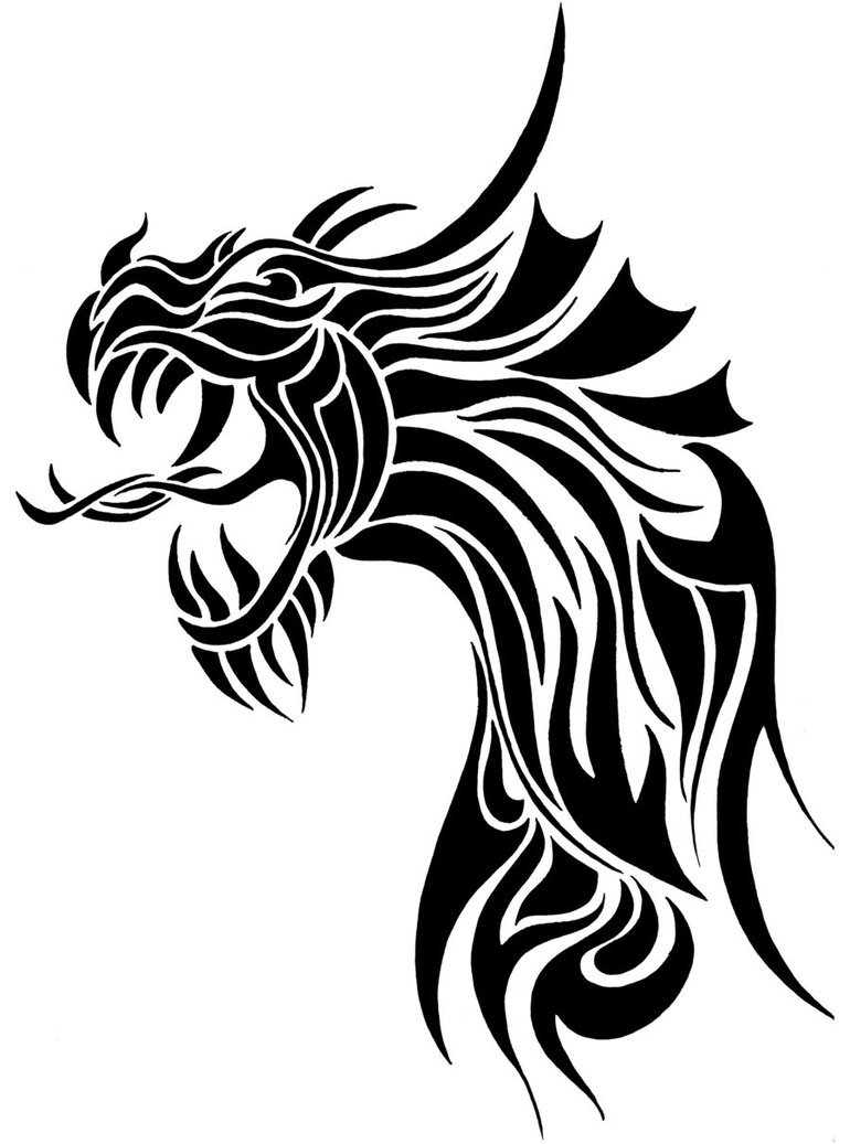 Line Drawings Of Dragons - ClipArt Best