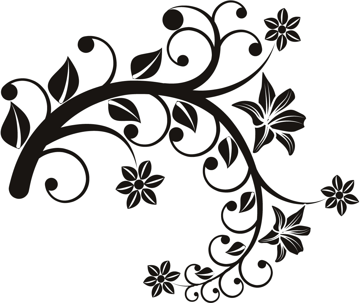 Floral wall sticker clipart best for Wall art templates free