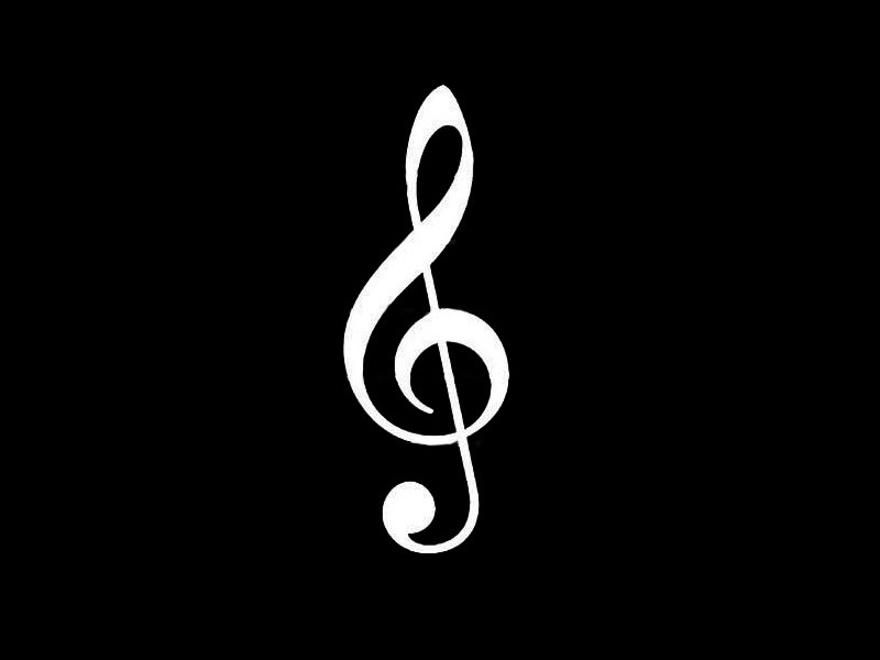 Music Note Black And White - ClipArt Best