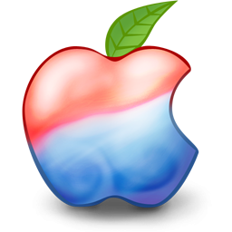 Red And Blue Apple Icon, PNG ClipArt Image