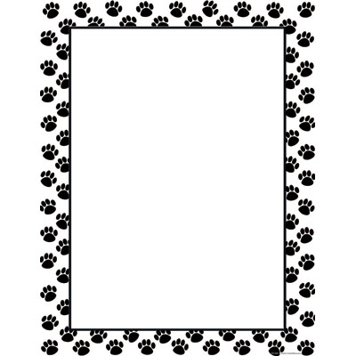 33 paw print clip art border . Free cliparts that you can download to ...