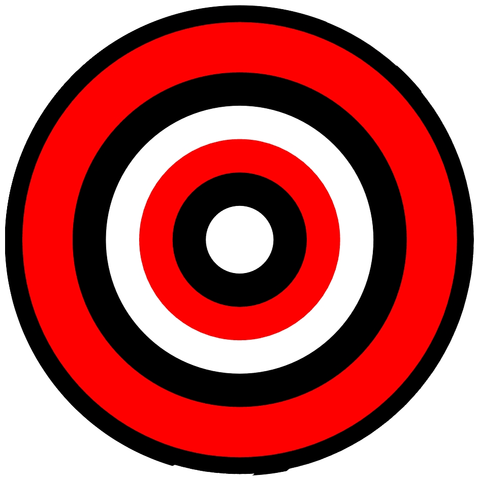 image relating to Printable Bullseye Target called Bullseye Objectives Printable - ClipArt Least complicated