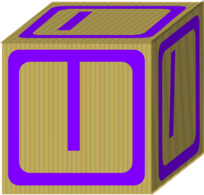 Letter Alphabet Block I Clip Art