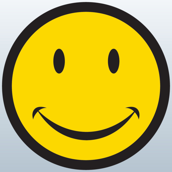 Smiley Face Symbol 3D Model Made with 123D Clip Art ...