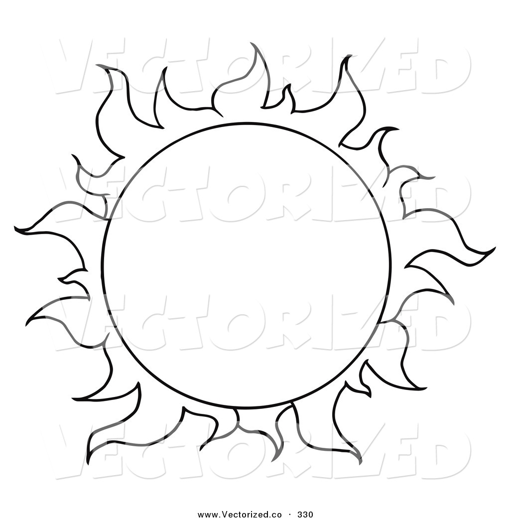 Line Art Sun : Sun line drawing clipart best