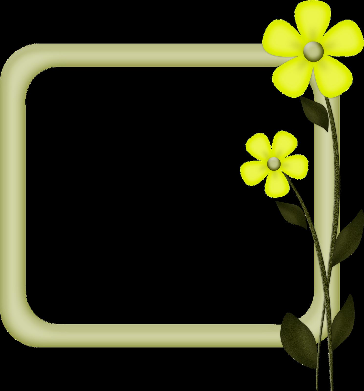 Simple Flower Frame - ClipArt Best
