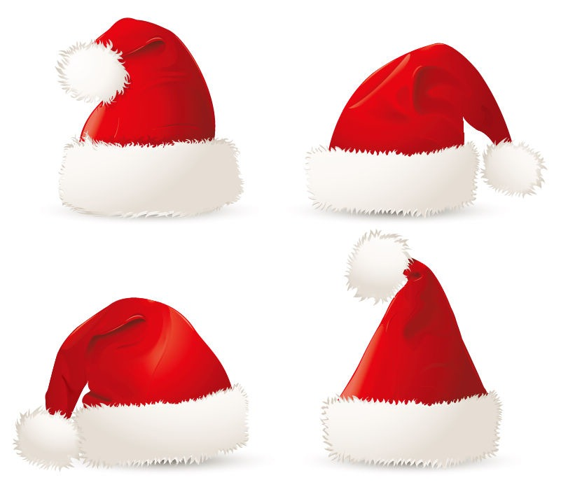 Christmas Hat Template Red Christmas Santa Hats