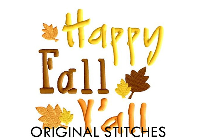 Happy Fall Y'all Clipart