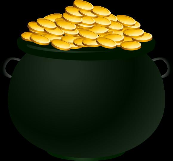 irish pot of gold clipart best pot of gold clip art art pot of gold clipart free