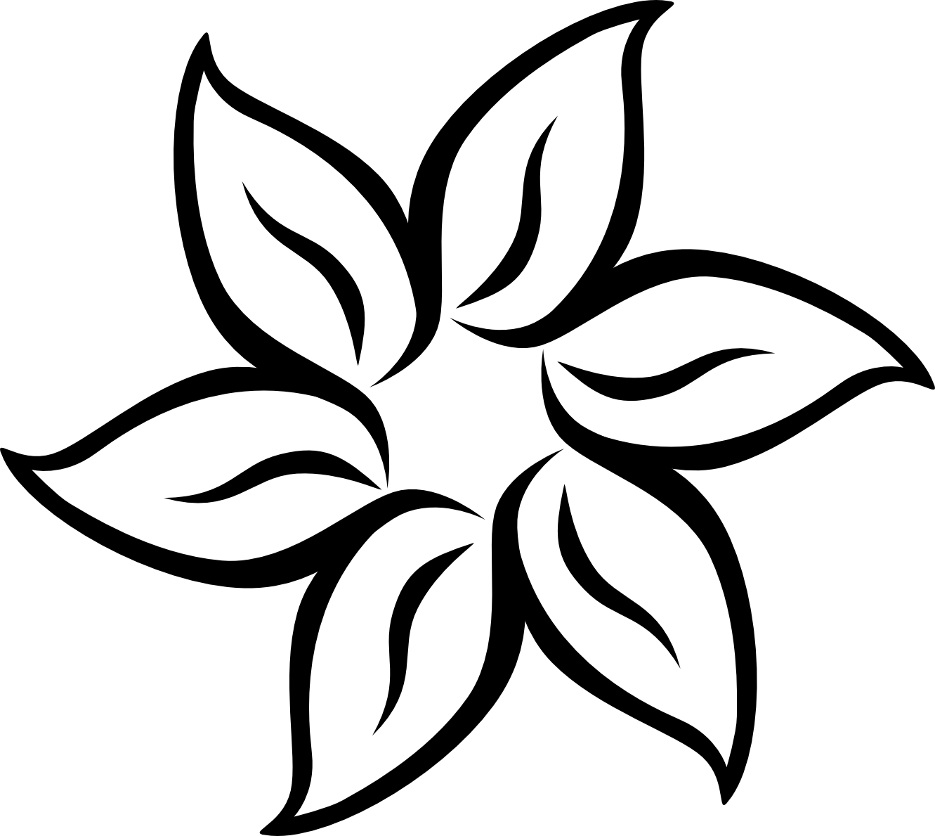Line Art Vector Design Png : Vector flower graphics clipart best