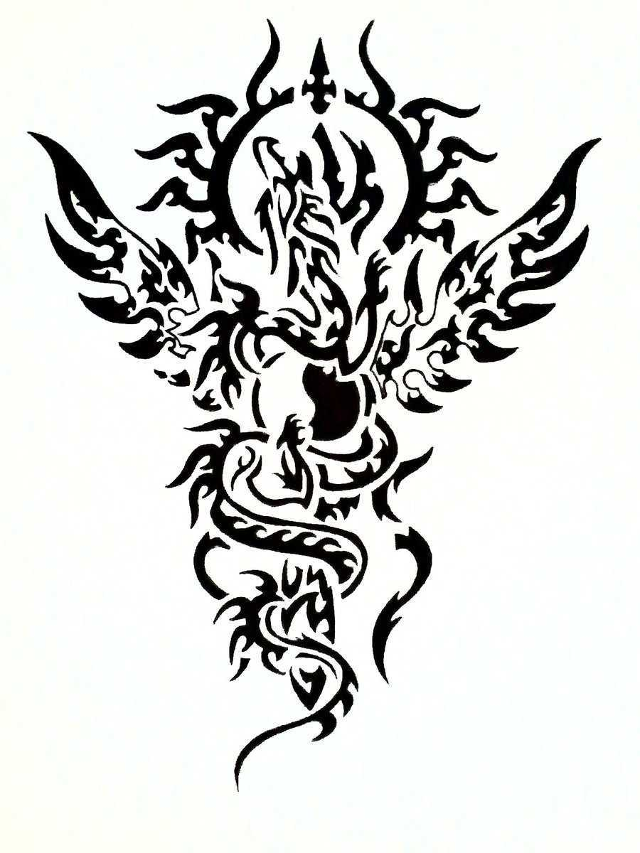 Black and white dragon tattoos clipart best - Any design using black and white ...