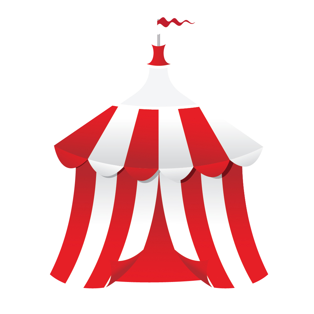 Circus Tent Background Vectorjungle Free Vector Art ...