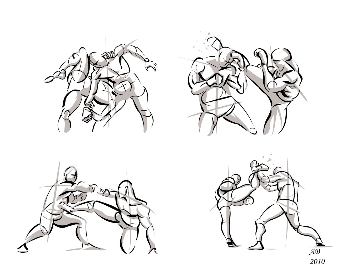 Drawings Of People Fighting - ClipArt Best