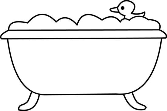 Bathtub Black And White Clipart Free Cliparts That You Can