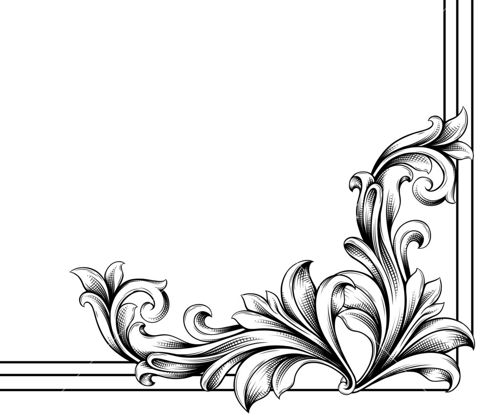 The Best Floral Vector Corner Png