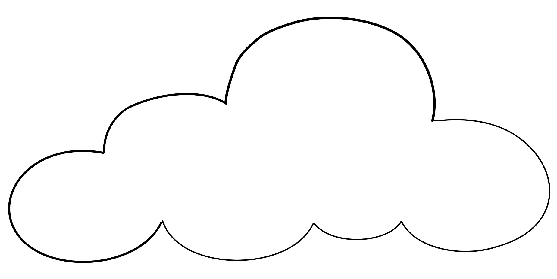 types of clouds coloring pages - photo#31