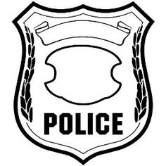 Sweet image regarding printable police badges