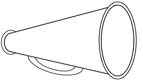 megaphone coloring pages - photo#5