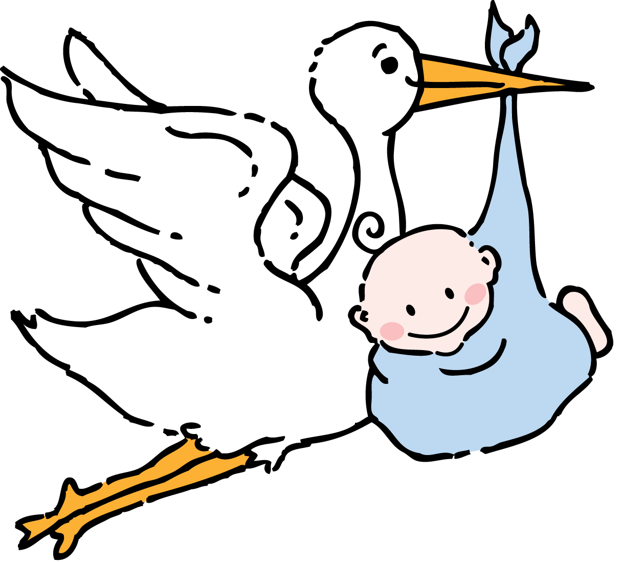free baby clipart black and white - photo #50