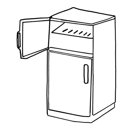 Colouring Picture Of Refrigerator - ClipArt Best