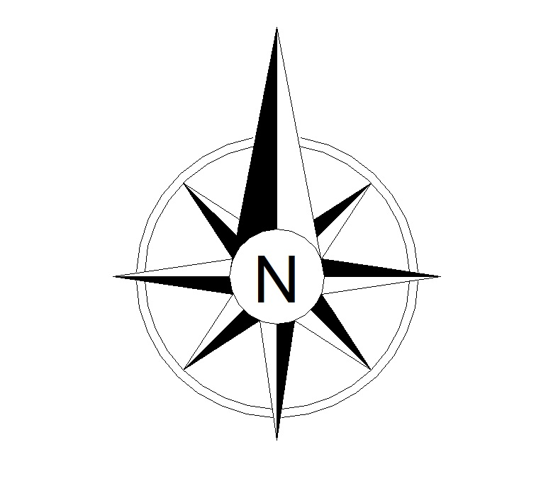Drawing Lines With Arrows In Autocad : North sign clipart best