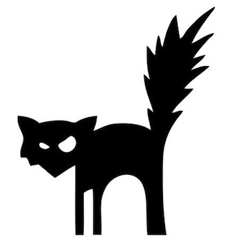 black cat templates for halloween - free halloween pic clipart best
