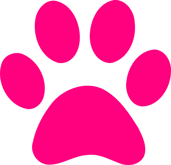 Paw Print Pink clip art - vector clip art online, royalty free ...